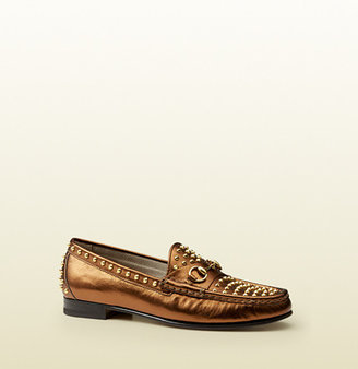 Gucci 1953 Horsebit Loafer In Studded Leather