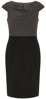 Dorothy Perkins Black and grey pencil dress