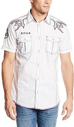 Roar Men's Opti-Mystic Jr. Short Sleeve Woven