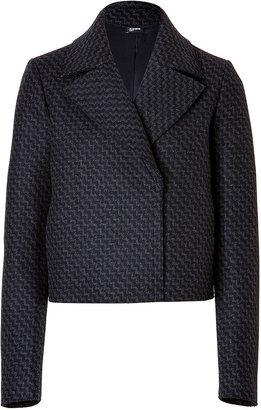 Jil Sander Navy Wool Cropped Jacket