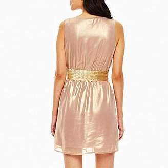 JCPenney Worthington® Belted Glam Dress - Petite