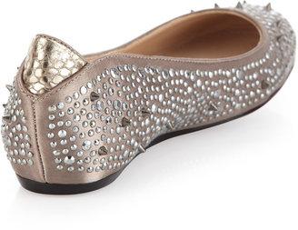 Sam Edelman Jolie Studded Ballet Flat, Stone Zinc