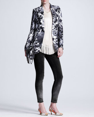 Stella McCartney Ombre Skinny Jeans, Black/Gray