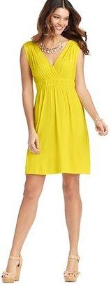 LOFT Petite Ruched Waist Sleeveless Dress
