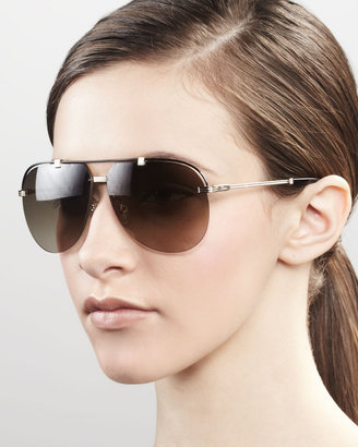 Christian Dior Croisette Aviator Sunglasses, Gold
