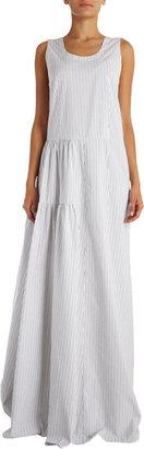 Marni Pinstriped Sleeveless Maxi Dress