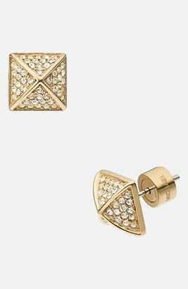Michael Kors Pavé Pyramid Stud Earrings