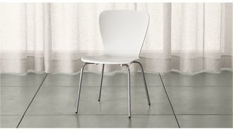 Crate & Barrel Felix White Dining Chair