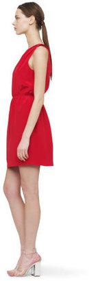 Club Monaco Logan One Shoulder Silk Dress