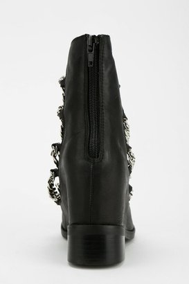 Jeffrey Campbell Kette Hidden Wedge Chain-Strap Boot
