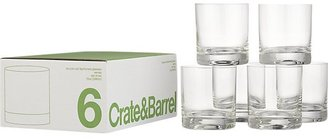 Crate & Barrel Set of 6 Double Old Fashioned Glasses