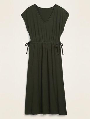 Old Navy Waist-Defined Dolman-Sleeve Rib-Knit Midi Dress for Women