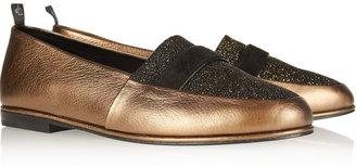 NewbarK Juliette metallic leather loafers