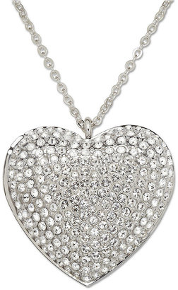 Swarovski Necklace, Crystal Pave Heart Locket Pendant