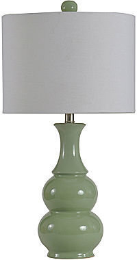 JCPenney Celadon Double Gourd Ceramic Table Lamp