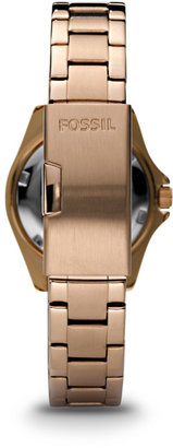Fossil Riley Mini Three-Hand Stainless Steel Watch - Rose
