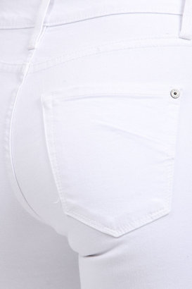 James Jeans Hunter High Rise Straight Leg in Frost White