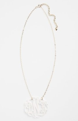 Moon and Lola Women's Large Oval Personalized Monogram Pendant Necklace (Nordstrom Exclusive)