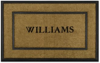 Williams-Sonoma Williams Sonoma Personalized Rubber & Coir Picture Frame Doormats