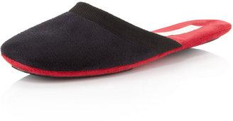 Patricia Green Travel Two-Tone Slipper, Black/Red