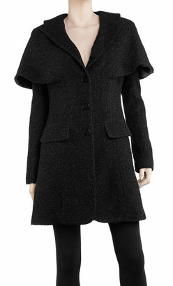 Max Studio Metallic Wool Capelet Coat