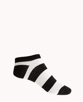 Forever 21 Striped Ankle Socks