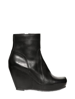 Rick Owens 100mm Wedge Leather Boots