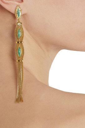 Aurelie Bidermann Sunset gold-plated turquoise clip earrings