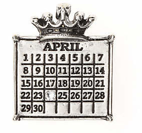 Swarovski Personalized Silvertone Calendar Crown Pendant $45.85 thestylecure.com