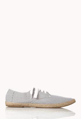 Forever 21 21 MEN Striped Espadrille Tennis Shoes