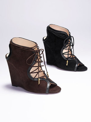 Victoria's Secret Collection Lace-up Wedge Bootie