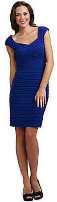Adrianna Papell Shutter-Pleat Dress