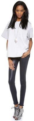 Cynthia Rowley Suede Panel Pullover Sweatshirt