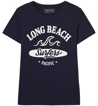 Mayoral Pack of 2 White and Navy Surf Print Tees