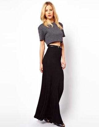 Asos Jersey Maxi Skirt with Seam Detail