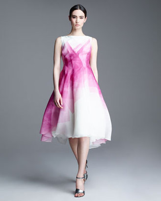 Lela Rose Kaleidoscope Organza Dress