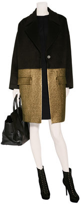 Hakaan Black Wool-Blend Combo Coat