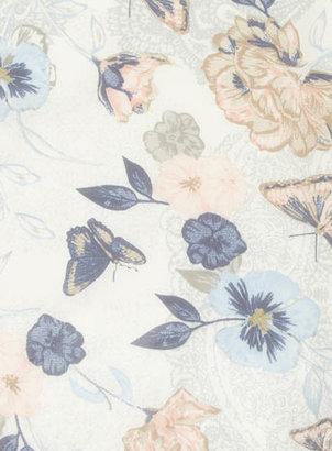 Dorothy Perkins Butterfly Chiffon Skinny Scarf