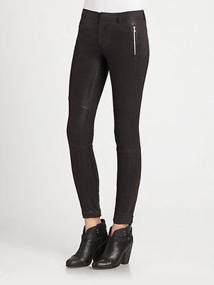 J Brand Ready-To-Wear Angela Coated Skinny Pants