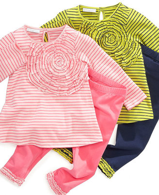 First Impressions Baby Set, Baby Girls 2-Piece Large Rosette Tunic and Ruffled Leggings