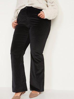 Old Navy Extra High-Waisted Secret-Slim Pockets Velvet Plus-Size Flare Jeans