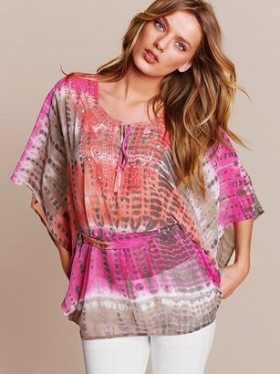 Victoria's Secret Embroidered Tie-Dye Blouse