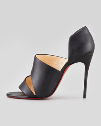 Christian Louboutin Martissimo Open-Side Red Sole Bootie