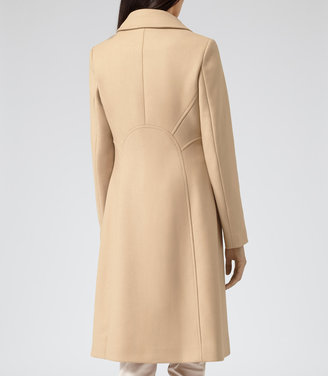 Reiss Board LARGE COLLAR OVERCOAT