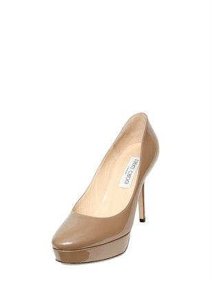 Jimmy Choo 100mm Aster Glossy Patent Leather Pumps
