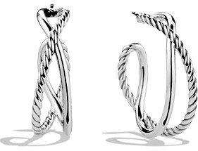 David Yurman Crossover Hoop Earrings