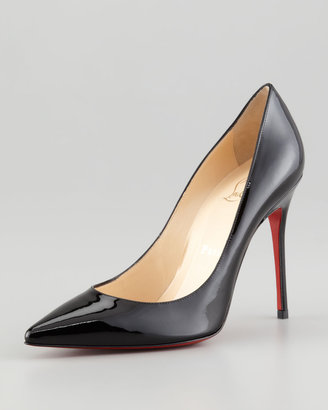 Christian Louboutin Decollete Patent Leather Red Sole Pump, Black