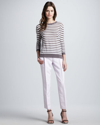 Theory Sag Harbor Striped Knit Sweater
