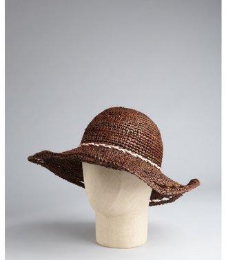 Michael Stars brown raffia straw 'Tassel Rock' sun hat