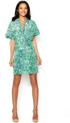 Tracy Reese Silk Blouson Shirtdress